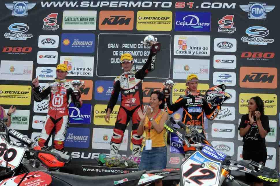 Supermoto: 3 этап Чемпионата мира выигрывает Лаццарини