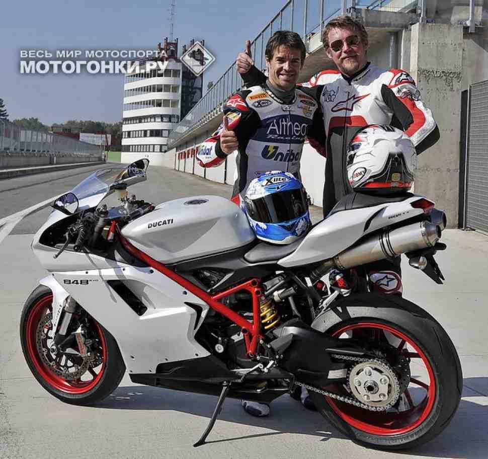 ТЕСТ-ДРАЙВ: Ducati 848 EVO и 1198 SP с Карлосом Чекой!